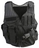 Cross Draw Tac Vest - Black